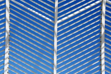 The metallic pattern of a decoration construction outside a stadium Stock Photo - 2069215