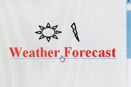 A web link for weather forecast in a web browser (from an LCD monitor) photo