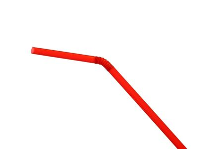 A red drinking straw isolated on white background Stock Photo