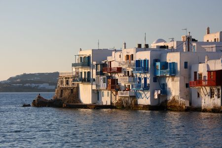 A view of the Mykonos town (