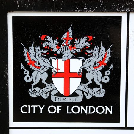 city coat of arms: The emblem of the city of London in the UK