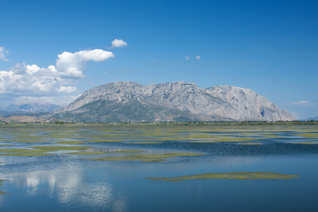 The lagoon of Mesologgi in central Greece