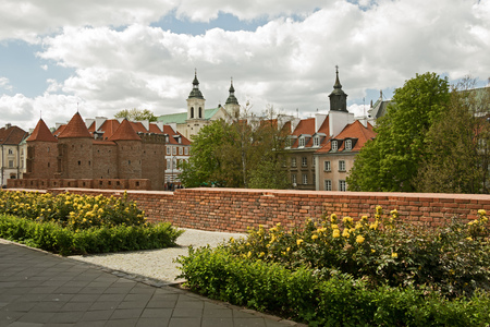A part of the fortification of the old town of Warsaw, Poland, including the Barbican Editorial
