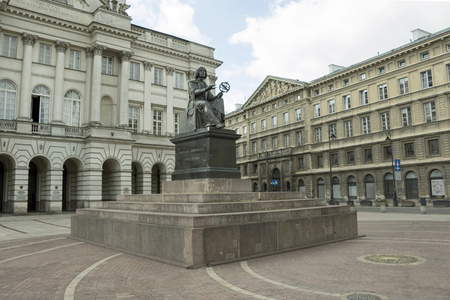 mathematician: The statue of mathematician and astronomer Copernicus in Warsaw, Poland Editorial