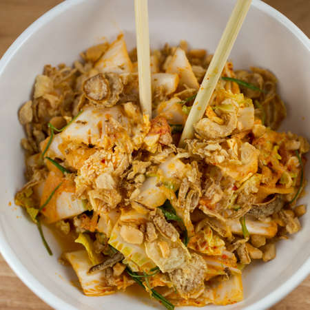 Sweet & Sour.  Creamy Kimchi Dressing, Nappa Cabbage, Pickled Melon and Cashew