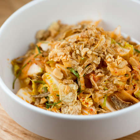 nappa: Sweet & Sour.  Creamy Kimchi Dressing, Nappa Cabbage, Pickled Melon and Cashew