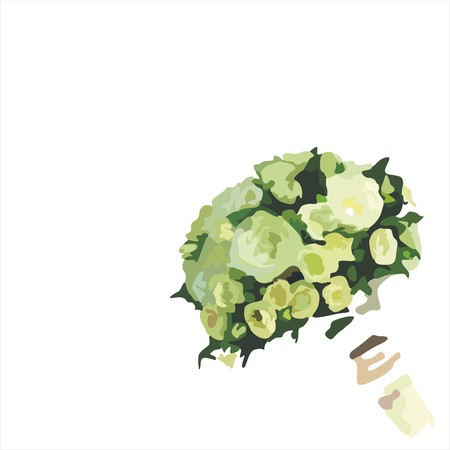 floral bouquet on white background. Vector illustration Illustration