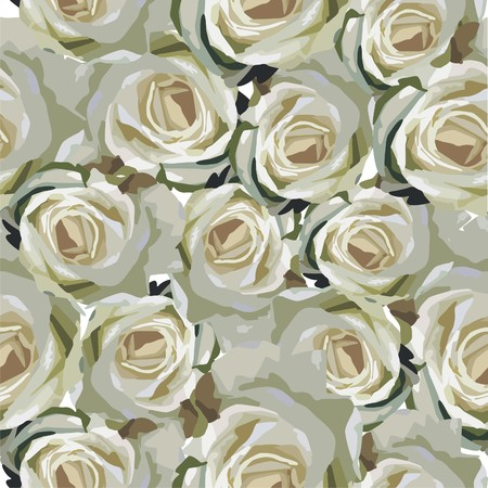 seamless texture with beautiful flowers Vector