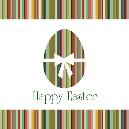 Postcard with Easter egg on colorful background. illustration. Illustration