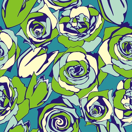 vector texture consist of flowers on green background. Vector illustration Stock Vector - 9184636