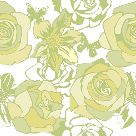 vector texture consist of flowers on white background. Vector illustration Vector