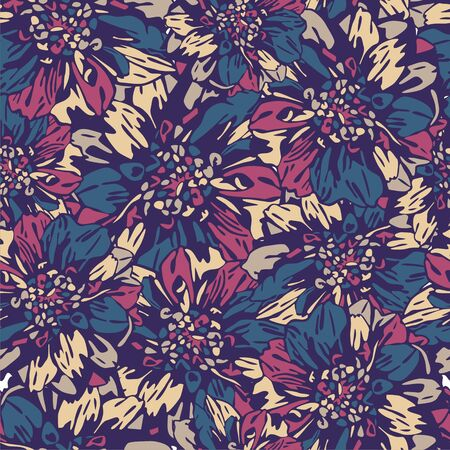 consist: vector texture consist of colorful flowers  Vector illustration