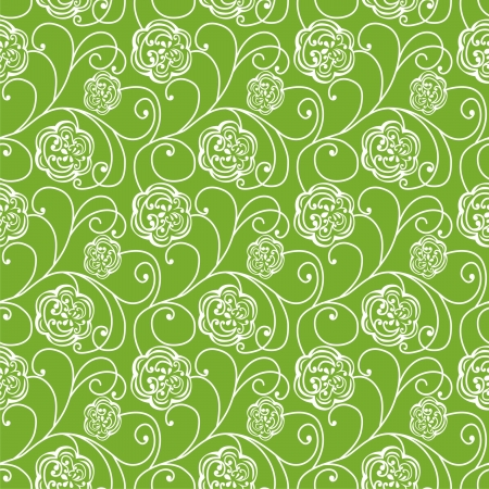 Vector seamless floral texture  Vector illustration