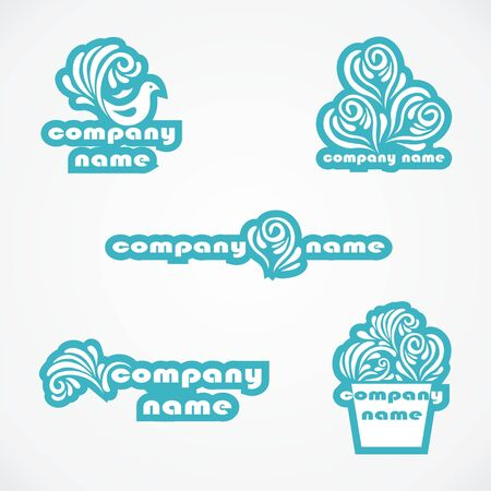 Set of different logos for company. Vector illustration.