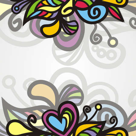 background consist of colorful patterns. illustration Stock Vector - 18583872