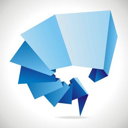 origami icon on white background.illustration Illustration