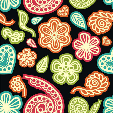 vector texture consist of colorful flowers. Vector illustration