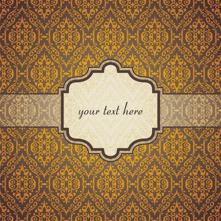 vintage  postcard consist of tracery patterns. illustration Stock Vector - 18584083