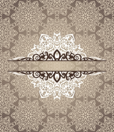 vintage  postcard consist of tracery patterns.  illustration Stock Vector - 18584099