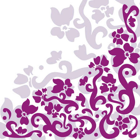 graceful: graceful pattern consist of tracery elements  Vector illustration