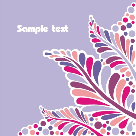 Leaves which consist of many patterns  Vector illustration
