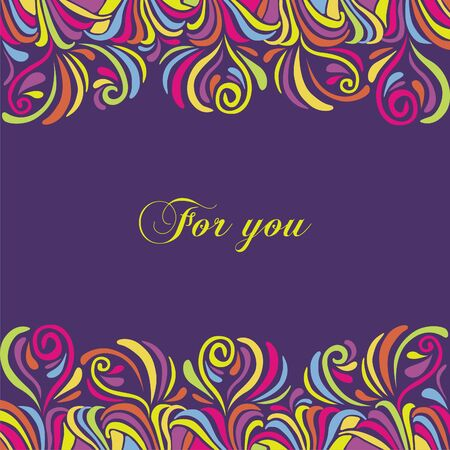 postcard background: Postcard with colorful tracery background. Vector illustration. Illustration