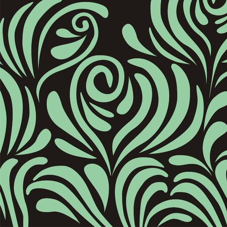 background with green pattern on the black background. Vector illustration.