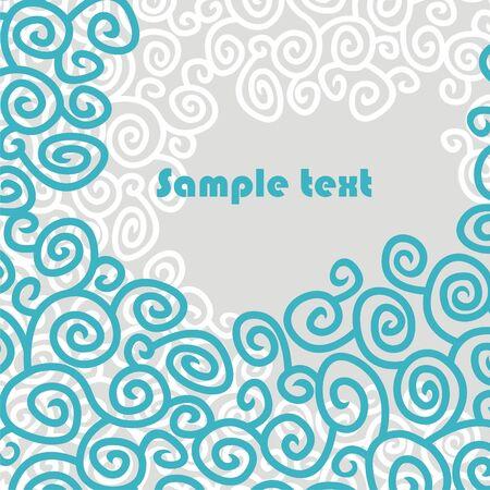 wallpaper with blue patterns. Vector illustration. Illustration