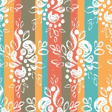 seamless texture with tracery figured pattern. Vector illustration Illustration