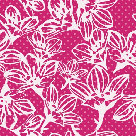 figured: seamless texture with tracery figured pattern. Vector illustration Illustration