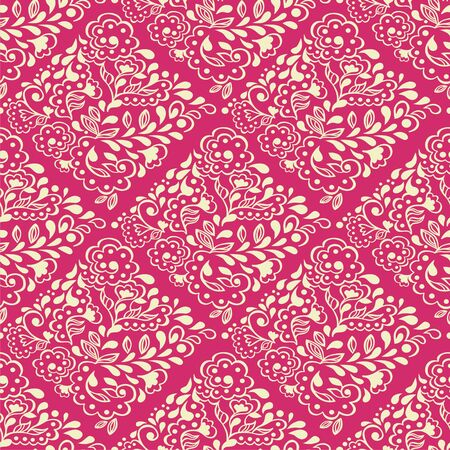 seamless floral pattern consists of tracery elements. Vector illustration. Illustration