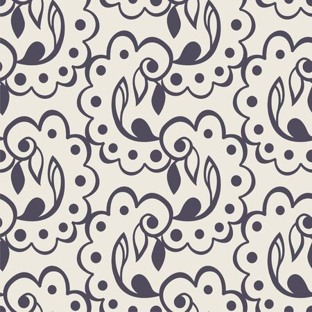 tracery: seamless floral pattern consists of tracery elements. Vector illustration. Illustration