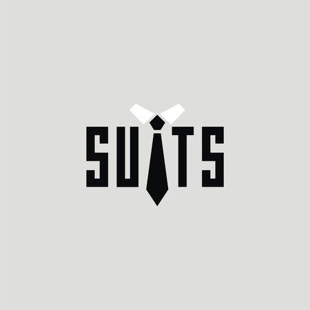 traje formal: trajes de palabras con signo de lazo. Imagen para la tarjeta de invitaci�n o para la compa��a de la boda. dise�o de la etiqueta. Vectores
