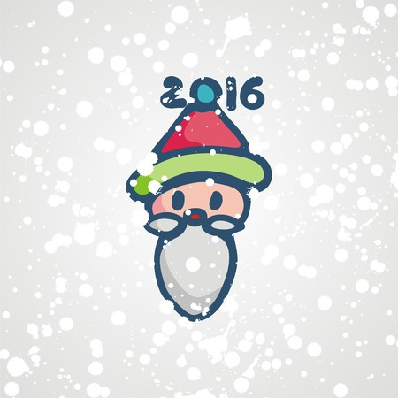 fanny: postcard for new year with fanny symbol santa claus.