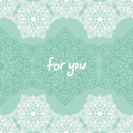 postcard background: ornamental pattern card. Decoration for background, postcard.