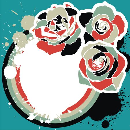 abstract rose: colorful background with beautiful flowers.