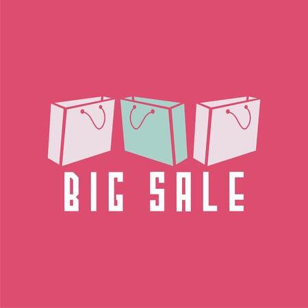 pockets: Sale poster with pockets for shopping. Vector illustration. Illustration
