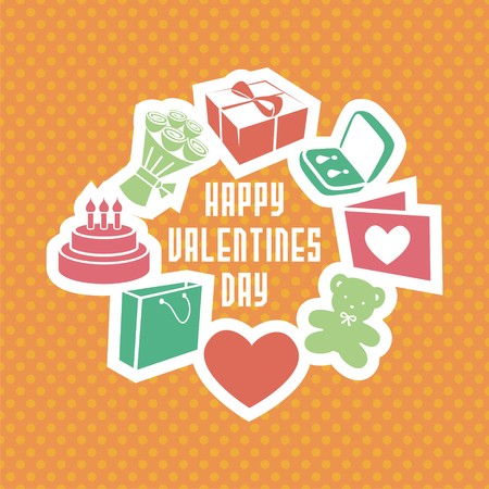 wedding  art: vector gift card consists of different elements. for valentines day. card for wedding. Vector illustration