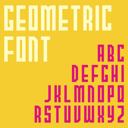 simple fonts design. Illustration