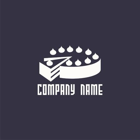 simple logo: logo cake. design logo. Logo for bakery shop.