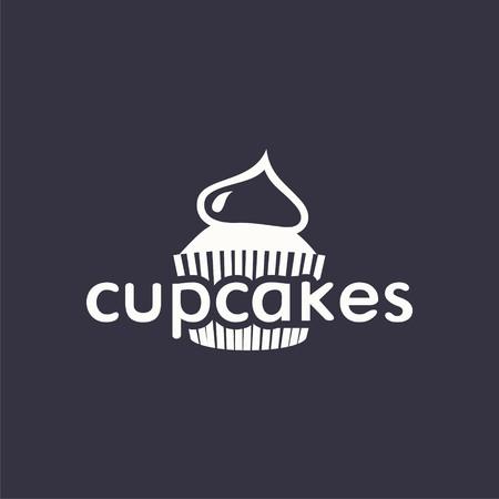simple logo: logo cupcake. design logo. Logo for bakery shop.