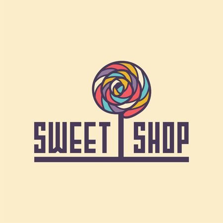 sweet shop: sweet shop . candy icon for cafe, for web sites. Illustration