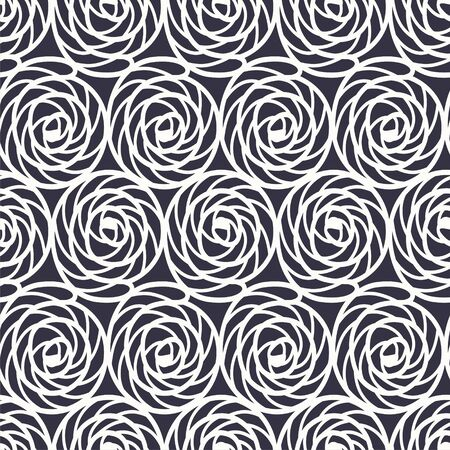helix: seamless pattern with monochrome graphic floral helix.