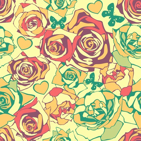 seamless pattern with flowers. illustration