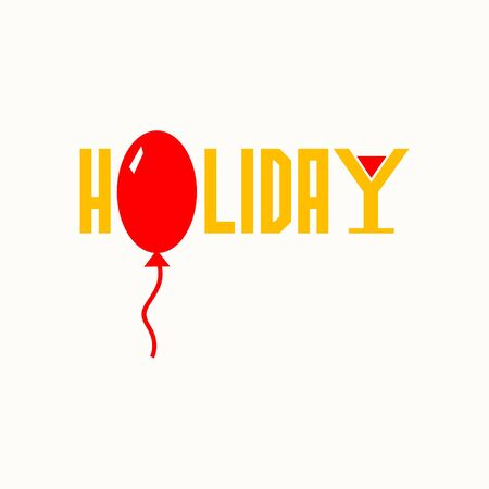 word holiday and balloon.