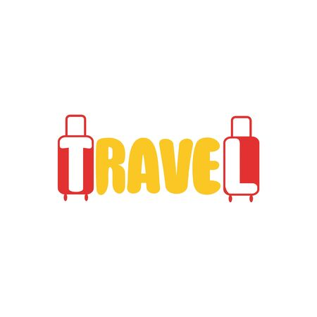 word travel and suitcases.