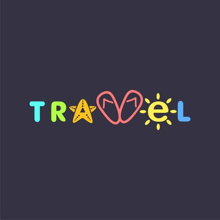 word travel. Illustration