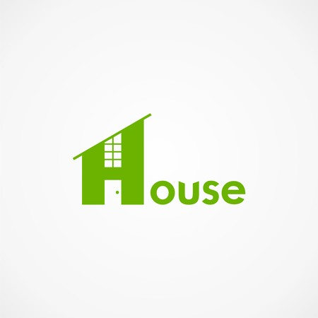 house with word house. Illustration