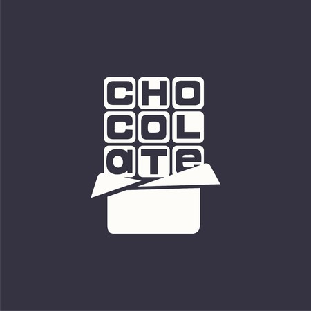 logo chocolate. Vector design logo. Vector illustration