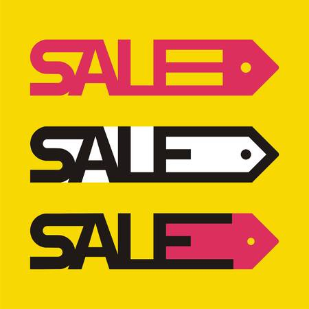 Sale tag icons. Set of three price templates. Vector illustration